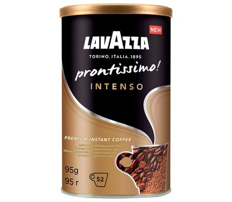 "Кофе молотый в растворимом LAVAZZA ""Prontissimo Intenso"", сублимир., 95г,  052628"