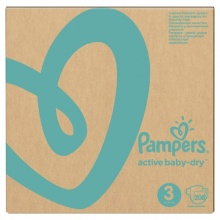 Подгузники Pampers Active Baby-Dry 3 (6-10 кг.) 208 шт