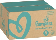 Подгузники Pampers active baby-dry 5 ( 11-16 кг )  150 шт.